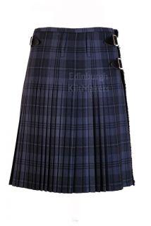 Hamilton Grey Tartan 100% Wool Traditional Scottish 8 Yard Full Dress