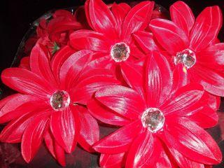 wholesale lot 12 TROPICAL gerbera DAISY flower WEDDING tutu HAIR glitz