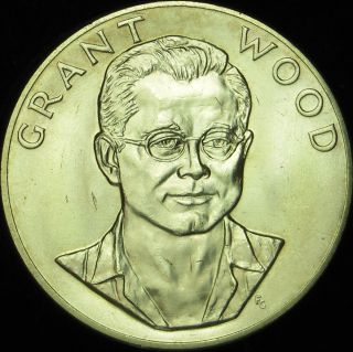 1980 1 Ounce Gold Medal Grant Wood American Arts Commemorative Series