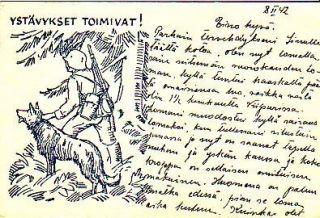 DOG German Shepherd Russian War Dog, Search & Rescue Dogs Art Postcard