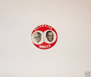 Campaign Pin Pinback Button Barry Goldwater Bill Miller