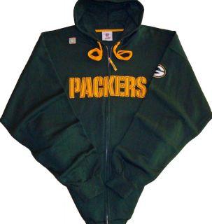 Green Bay Packers NFL Team Apparel Full Zip Hooded Sweathshirt Jacket