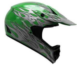 Green Dirt Bike ATV Motocross Helmet Off Road Gear MX S