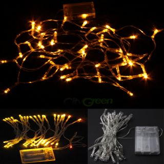 New Battery Operated 40 LED Fairy Light String Xmas Party Decoration