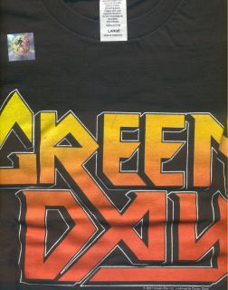 Green Day NEW T Shirt Black L Mens Large Cotton Billie Joe Armstrong