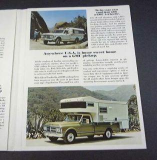 1971 71 GMC Rec Truck Brochure Jimmy Rally Pickup camper RV