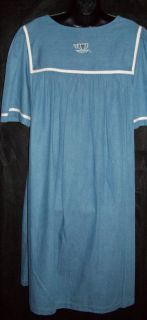 Go Softly 100 Cotton Denim Snap Front Patio House Dress Muu Duster