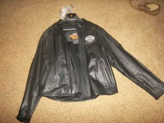 Mens 100 Leather Harley Davidson Jacket