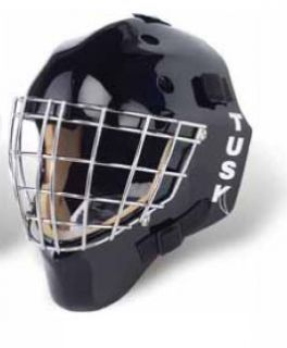 Eddy Tusk Hockey Goalie Goal Mask Helmet Tyke Black New