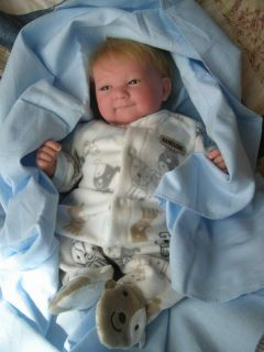 Preemie Baby Boy Doll Grayson Full Vinyl Limbs Blonde Hair