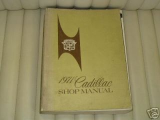 1971 Cadillac Shop Service Manual Original