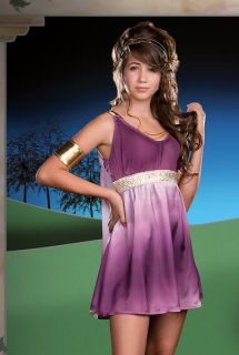 Teen Greek Key Roman Goddess Costume Aphrodite Grecian Toga Athena