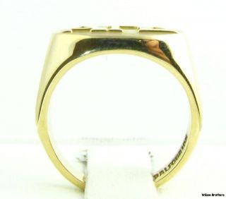 Gamma Delta Solid 10K Yellow Gold Sorority Greek Member Ring