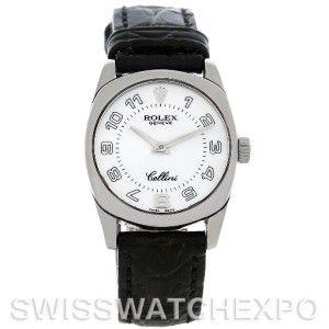 Rolex Cellini Danaos Ladies 18K White Gold Watch 6229