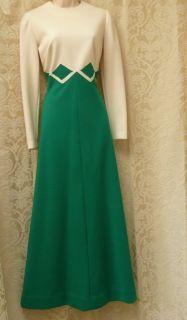 Vintage 1960s Gregg Draddy Wool Knit Maxi Dress Sz M from Shopaholic