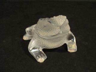 Cute Lalique Crystal Gregoire Frog Toad Figurine
