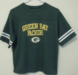 Boys NFL Team Apparel Green Bay Packers Green Short Sleeve Shirt Size