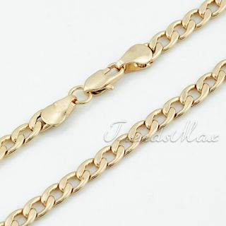 18K Rose Gold Filled Curb Chain Necklace GP Jewelry Lover Gift
