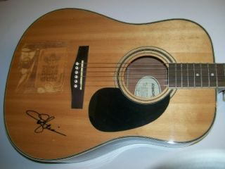 Toby Keith Signed Autograph Fender Guitar One of A Kind Laser Engraved