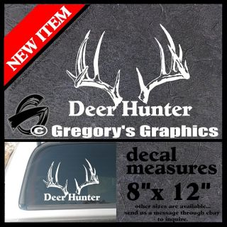 Whitetail Deer Buck Archery Arrows Back Glass Decal