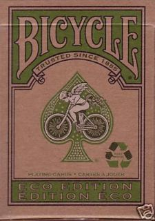 Deck Bicycle Green Eco Edition Playing Cards Recycle