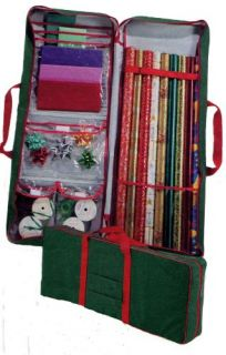 Storage Bag & Organizer with handles for Gift Wrap, Bows, & Ribbons