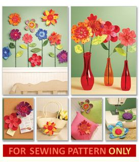 Dimensional Fabric Flower Pattern Home Gift Decoration