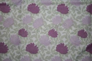 Microfiber Queen Sheet Purple Lavender Green Floral Set PEM America