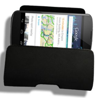Leather Case for Google Nexus 4 LG T Mobile Pouch Holster Cover Black