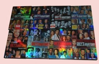 Greys Anatomy Season 1 2 3 4 5 6 7 8 Seasons 1 8 1 7 8 Brand New Sets