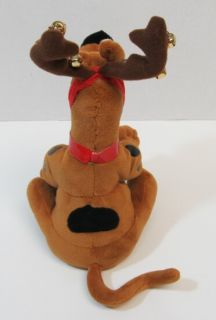 SCOOBY DOO Christmas Singing Talking Plush Reindeer Antler & Wreath 10