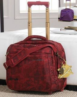 Samantha Brown Casual Overnighter Rolling Laptop Case Briefcase