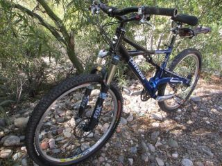 Cannondale PROPHET Mountain BIKE Medium Blue classic w/ Owners Manual