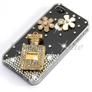 Diamond Gold Perfume Bling Rhinestone Crystal Skin Case Cover for