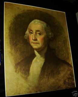 Antique George Washington Gilbert Stuart Print 1930s