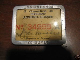 Fishing angling license dewitt dykes black american architect for Fishing license ct