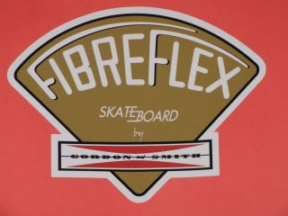 GORDON & SMITH G&S FIBREFLEX GOLD VINYL STICKER DECAL 4.5 SKATEBOARD