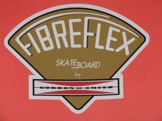 GORDON & SMITH G&S FIBREFLEX GOLD VINYL STICKER DECAL 4.5 SKATEBOARD