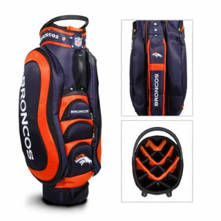 Licensed NFL Denver Broncos Medalist Golf Cart Bag Bonus