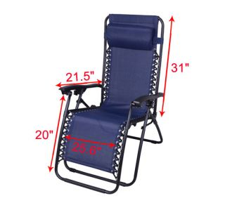 New Zero Gravity Lounge Chairs Folding Recliner Outdoor Patio Pool