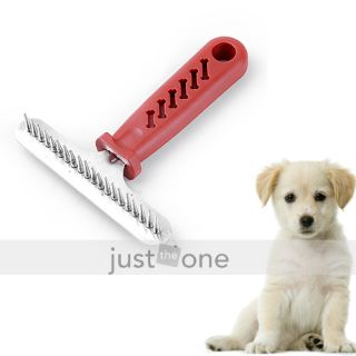 New Pet Dog Cat Hair Grooming Tool Brush Comb Rake