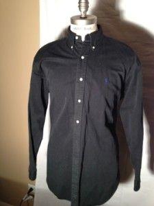 Polo Ralph Lauren Black Causal Blake Shirt Size Large
