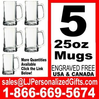 Beer Mug 25oz Engraved Groomsmen Gift Personalized A6