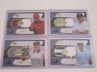 2004 Upper Deck Golf Gear Birdie Set 8 Cards Tiger Woods