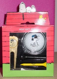 Peanuts Snoopy Joe Pro Plated Divot Golf Gift Set New in Box
