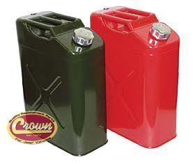 Crown 11010M 5 Gallon Gas Can Jerry Can with Spout Green Jeep