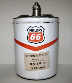 Vintage Phillips 66 Oil Gas Can 5 Gallon