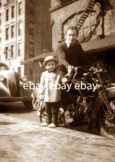 Dad Daughter Indian Motorcycle Little Girl Biker Photo