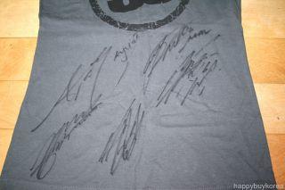 SS501 All Member Autographed T Shirt Kim Hyun Joong