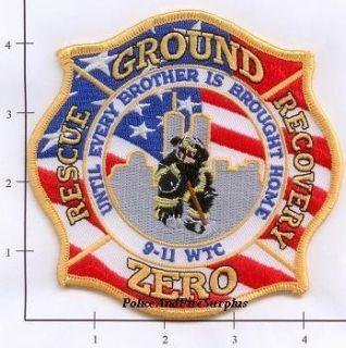 New York City Fire Dept Patch WTC 9 11 Patch V4 Ground Zero